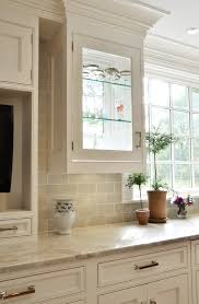 Traditional Kitchen Backsplash Ideas - exquisite amazing beige subway tile backsplash stylish glass and