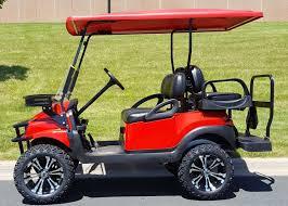 club car precedent red phantom elite i2 48v electric golf cart