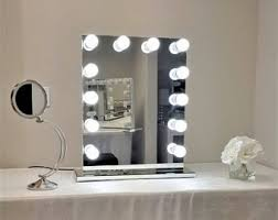 Table Vanity Mirror With Lights Dimmable Grand Hollywood Lighted Vanity Mirror W Dual Outlets