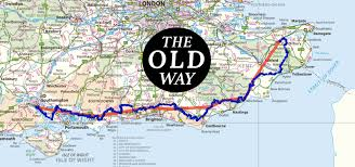 Forgotten Shore Map The Old Way To Canterbury Pilgrimage In Britain