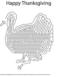 happy thanksgiving turkey maze free pdf printable or