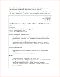 Resume Format For Hotel Management Resume Hotel Front Desk Resume Examples
