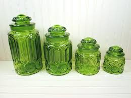 fenton canister sets vintage l e smith moon u0026 stars green glass