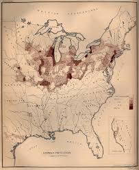 United States Map By Population by 1872 Census Map Showing Percentage Of German Population In Eastern