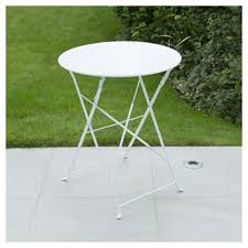 metal folding table outdoor buy metal folding bistro table white from our garden tables range