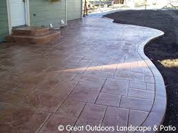 Cement Patio Designs Backyard Cement Designs Backyard Cement Patio Ideas Concrete