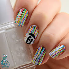 romantic rainbow rain nail art nailzini a nail art blog