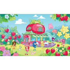 strawberry shortcake xl wall mural 6 x 10 5 wall2wall strawberry shortcake xl wall mural 6 x 10 5