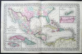Map Of Central America And Caribbean by 1870 Mitchell Large Antique Map Of Gom Texas Mexico Central