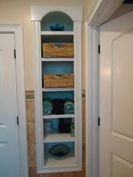 small bathroom closet ideas take the door your bathroom linen closet for a chic and open
