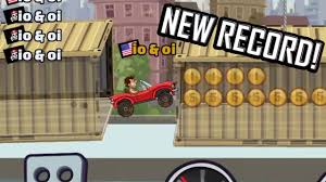 hill climb racing monster truck hill climb racing 2 my record in city youtube