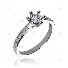 zasnubni prsten zásnubní prsten se zirkony bílé zlato
