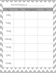 thanksgiving dinner menu template weekly menu template