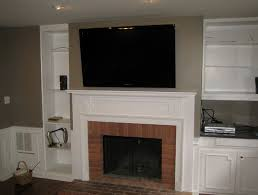 Mounting A Tv Over A Gas Fireplace by Tv Above Gas Fireplace Hiding Wires Home Design Ideas