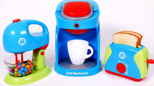 Kitchen Products by Cooking Breakfast Playset For Children Coffee Machine Toaster And