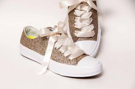 ribbon shoelaces m90000002120 sports shoes glitter chagne gold converse ii low
