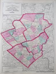 Pa Counties Map Counties Of Northampton Carbon Monroe And Lehigh Pennsylvania