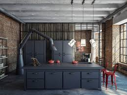 kitchen design excellent cool industrial style kitchen for