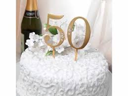 50th wedding anniversary cake topper 50th wedding anniversary rhinestone cake topper in gold xgct50