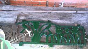 restoring cast iron garden bench youtube