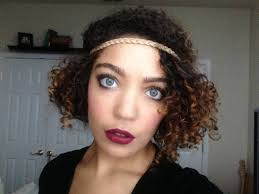 flapper inspired hairstyle on naturally curly hair youtube