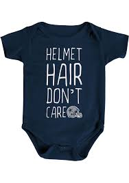 dallas cowboys baby navy blue helmet hair short sleeve creeper