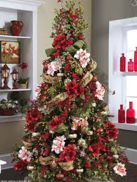 decorate christmas tree flower theme christmas trees decorating ideas pictures 23 beautiful