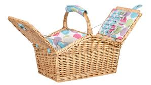 picnic basket set for 4 candy dot wicker picnic basket picnic now available from