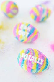 colored sand diy typography sand art easter eggs