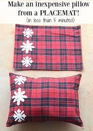 make an inexpensive pillow from a placemat