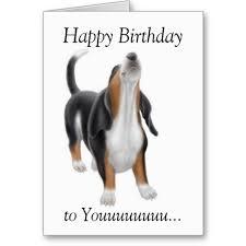happy birthday singing happy birthday singing basset hound dog card fr