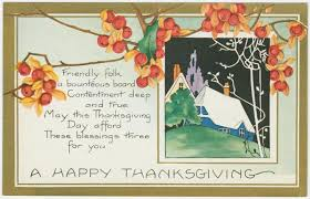 vintage thanksgiving postcard a happy thanksgiving thanksgiving