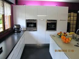 cuisine blanche laqué modele cuisine blanc laque sans central plan en modele cuisine