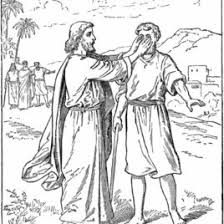 Blind Bible Bible Story Coloring Page For Jesus And The Man Born Blind Free