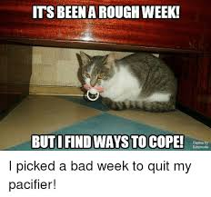 Meme Of The Week - its beena rough week buti find ways to cope i picked a bad week to