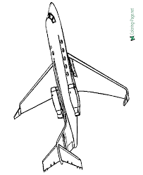 small prop airplane coloring 010