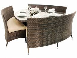 doha triangle dining set furniturerelax
