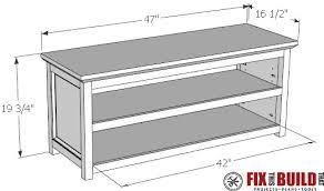 diy entryway table plans diy entryway shoe storage bench fixthisbuildthat