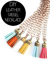 tassel necklace make images Diy leather tassel necklaces the pleated poppy jpg