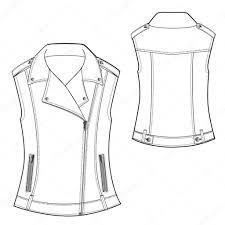 biker waistcoat biker waistcoat u2014 stock vector ladycharlottefashion 44211229