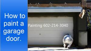 how to paint a garage door youtube