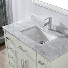studio bathe 42 inch white finish bathroom vanity solid
