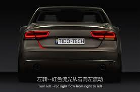 audi brake light 2017 dual color flow type led car brake light drl on