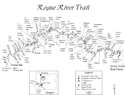 Southern Illinois Wine Trail Map by Itinerary U0026 Mileage Rogue River Trail Hiking Momentum River