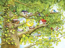 children s small wall muralskid in the mural small wall mural bird tree
