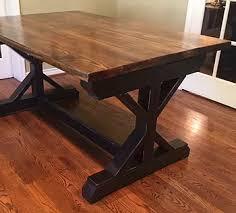 custom wood dining tables farmhouse dining tables dallas inspired custom wood furniture x frame