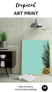 printable pineapple wall art turn house