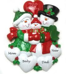 proud new parents personalized ornament