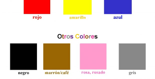download learning colors in spanish worksheets