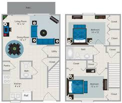 How To Design Floor Plans For House by Gorgeous Blue And Grey Living Room Wallpaper 1200x703